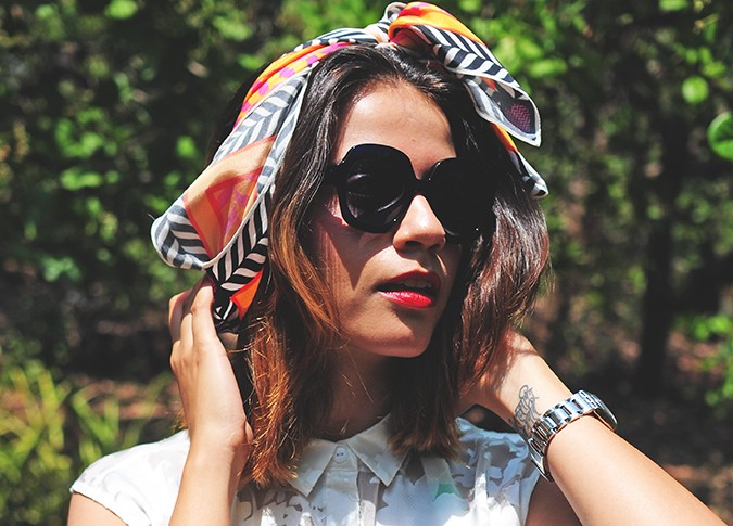 Haze Glaze | Akanksha Redhu | face scarf on head