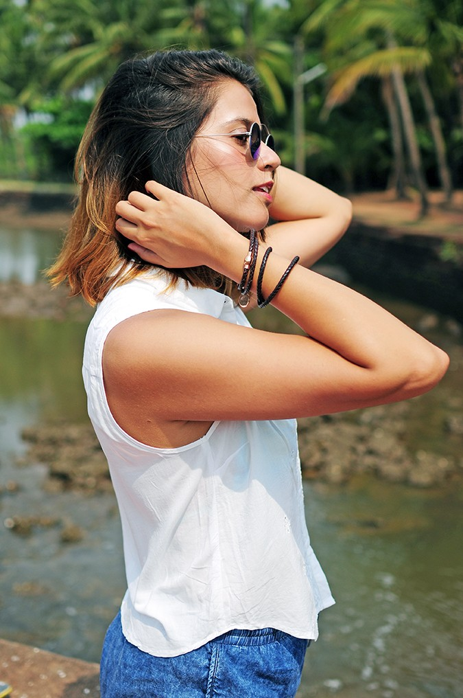 Blanc Frais | Goa | Akanksha Redhu | half side face