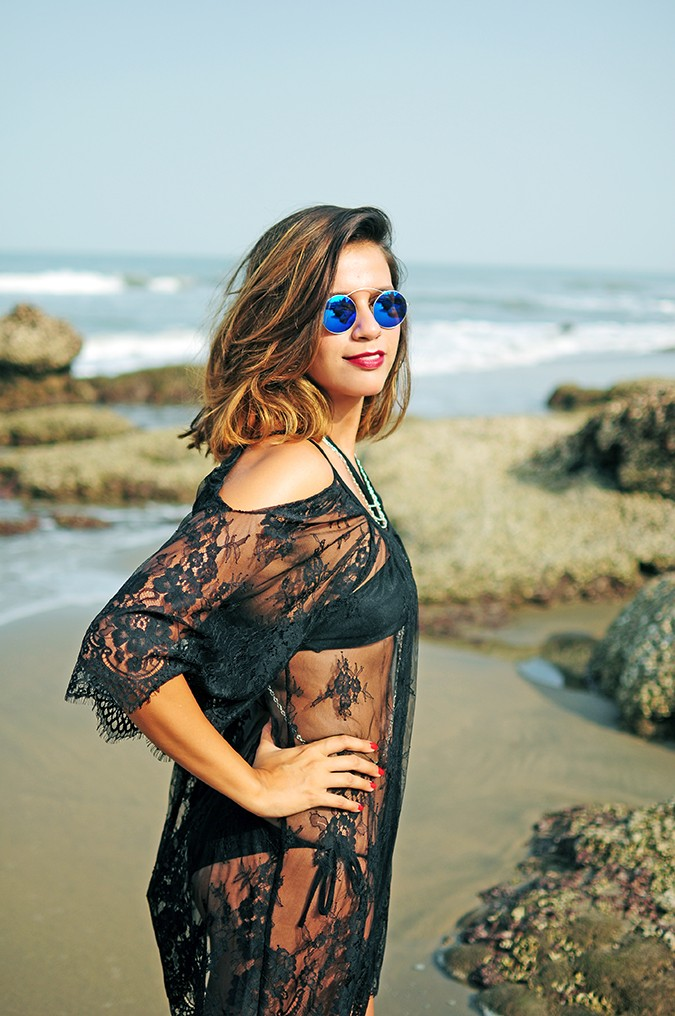 Sheer Bliss | Goa | Akanksha Redhu | half side with sunnies