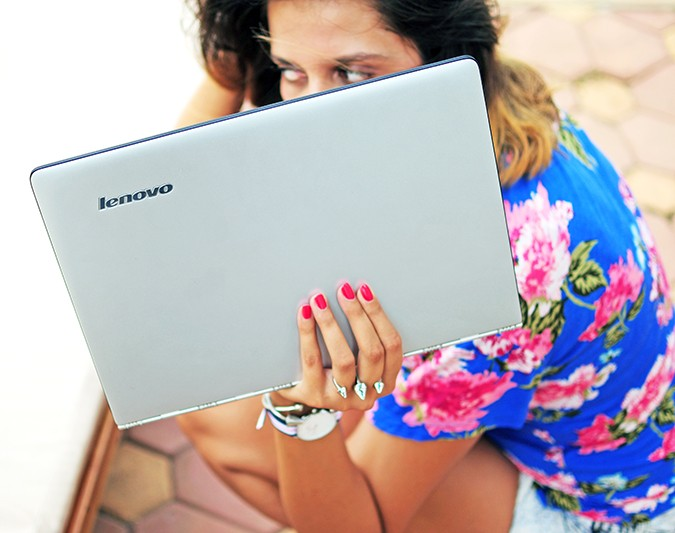 Days Like These | Akanksha Redhu | sitting with laptop branding