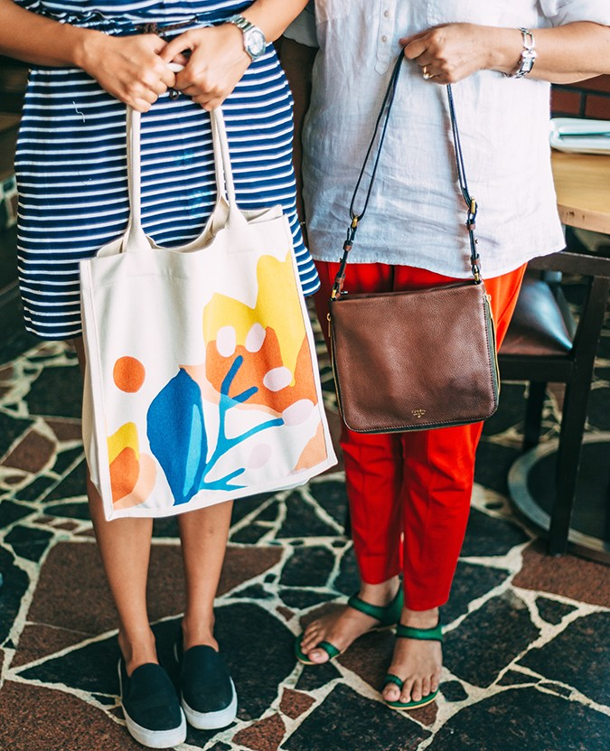 Mother's Day with Fossil | Akanksha Redhu | both bags with shoes