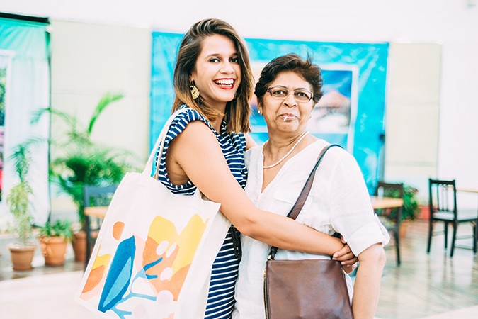 Mother's Day with Fossil | Akanksha Redhu | me hugging mum