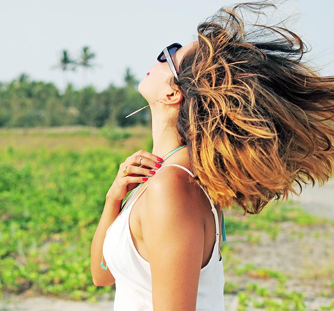 Beach Days   Goa   Akanksha Redhu   hair fly