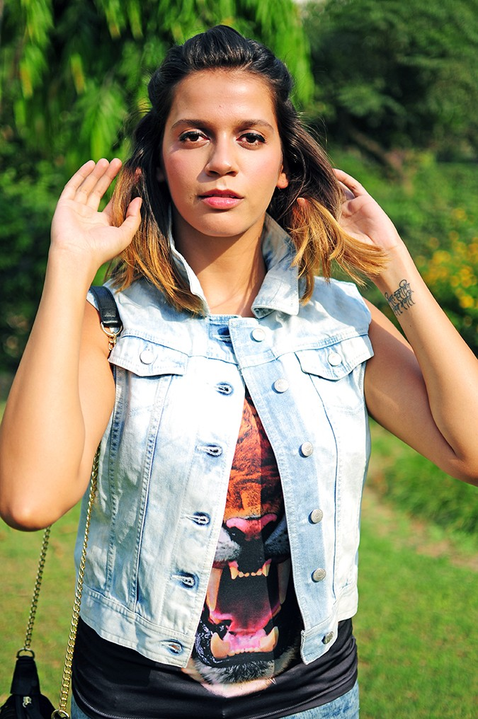 The Roaring Denims | Only India | Akanksha Redhu | half front with jacket