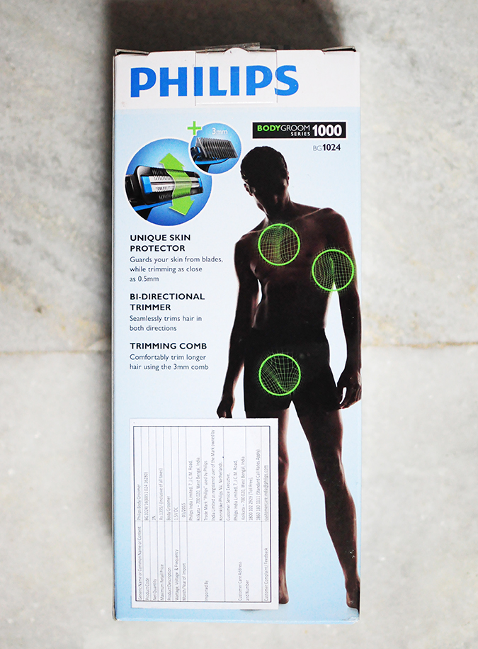 Philips Bodygroomers Launch with Arjun Kapoor | Akanksha Redhu | back of box