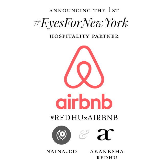 New York with Airbnb | #RedhuxAirbnb | branding graphic