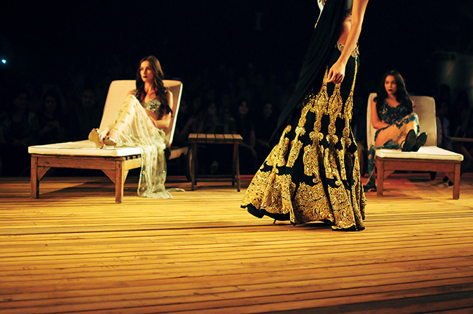 Monisha Jaising | The Sailing Bride | Akanksha Redhu | aicw | black n gold lehenga