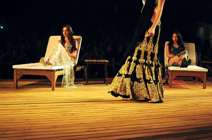Monisha Jaising | The Sailing Bride | Akanksha Redhu | aicw | black n gold lehenga