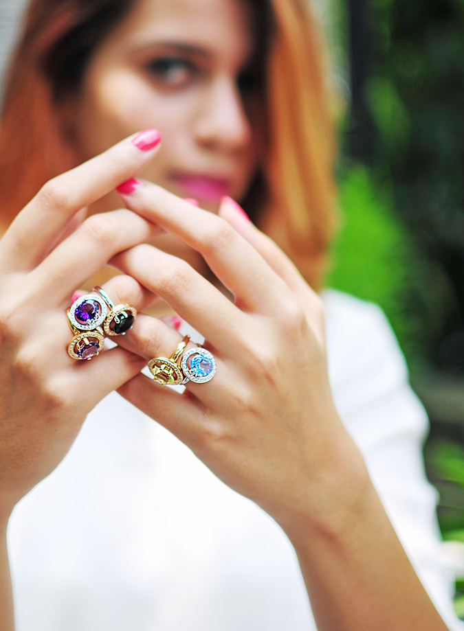 The Palette | Tanishq | Akanksha Redhu | half front rings in focus