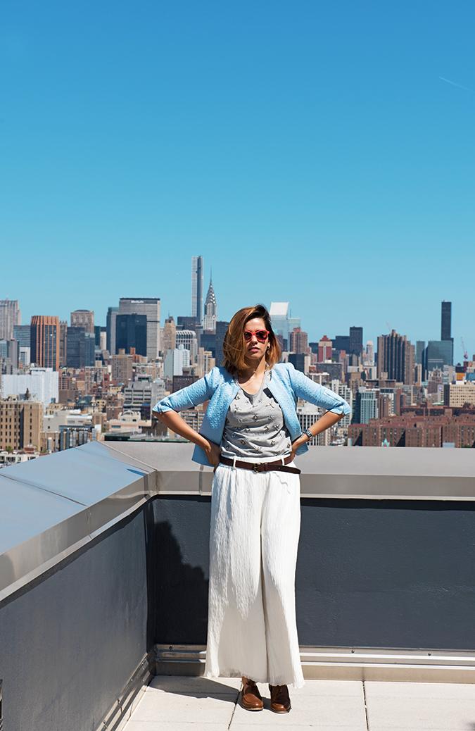 New York | #RedhuxVeroModa | full front empire at back
