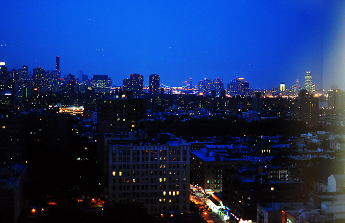 Airbnb | New York City | #RedhuxNYC | night view blue sky