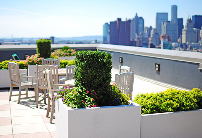 Airbnb | New York City | #RedhuxNYC | roof top other side
