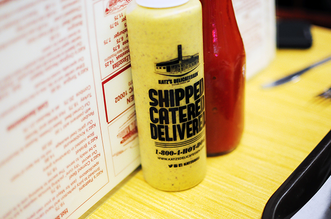 Katz's Delicatessen | #RedhuxNYC | mustard