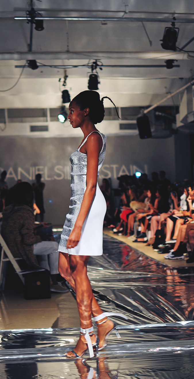 Daniel Silverstain | NYFW | Akanksha Redhu | silver dress