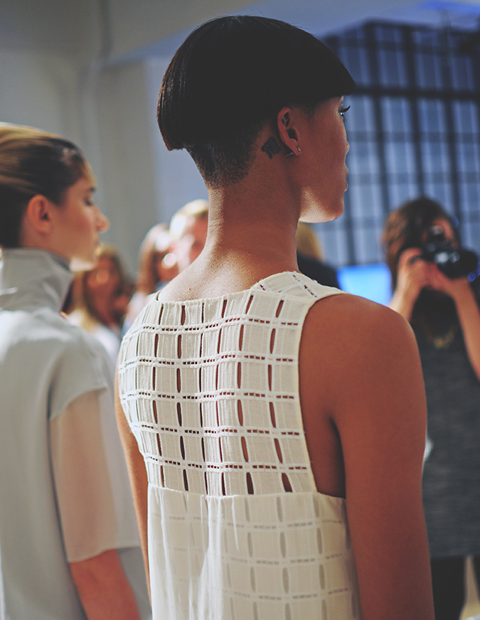 Daniel Silverstain | NYFW | Akanksha Redhu | back detail white dress