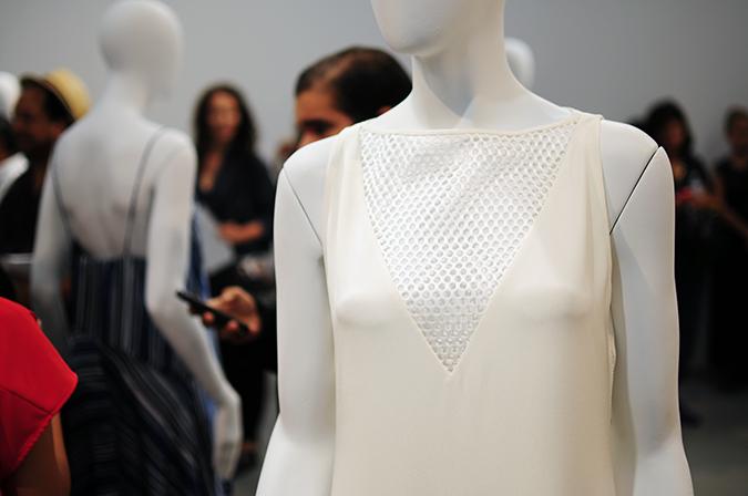 Tess Giberson | NYFW | #RedhuxNYC | white mesh