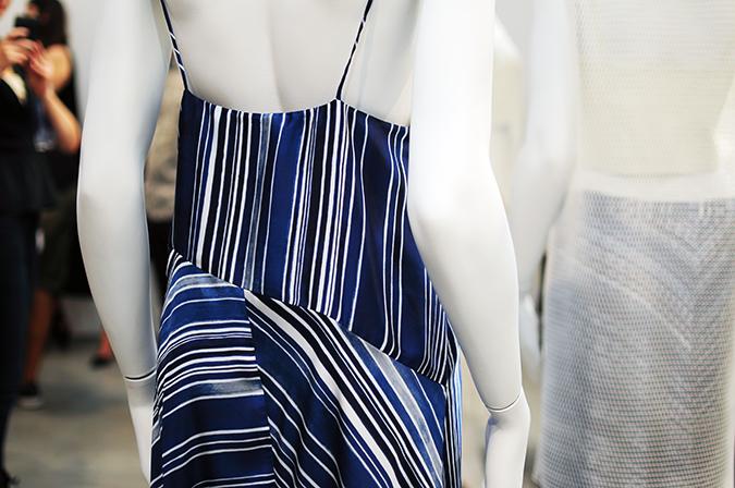 Tess Giberson | NYFW | #RedhuxNYC | striped dress back