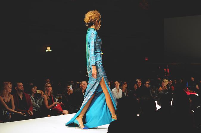 Malan Breton | StyleFW | NYFW | #RedhuxNYC | long teal dress