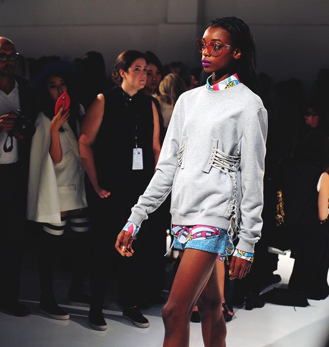 KYE | NYFW | #RedhuxNYC | corset sweatshirt