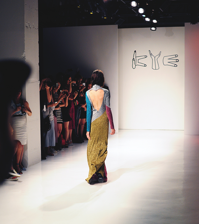 KYE | NYFW | #RedhuxNYC | back of metal maxi