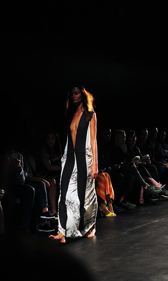 Francesca Liberatore | NYFW | #RedhuxNYC | black n white maxi