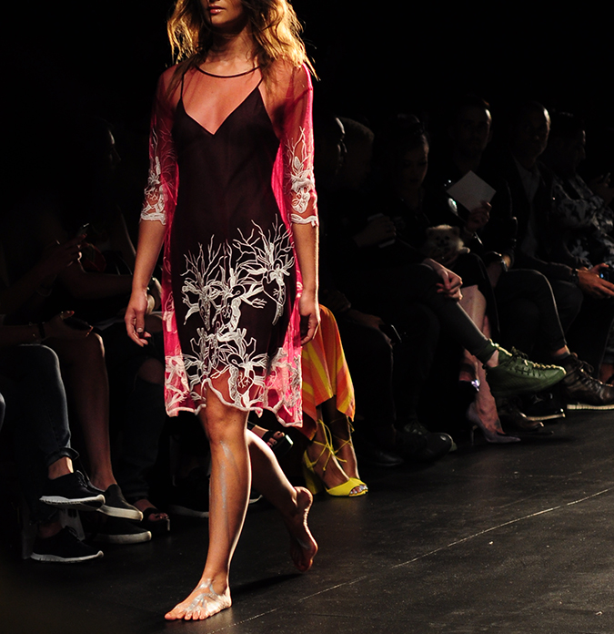 Francesca Liberatore | NYFW | #RedhuxNYC | sangria and silver lace full