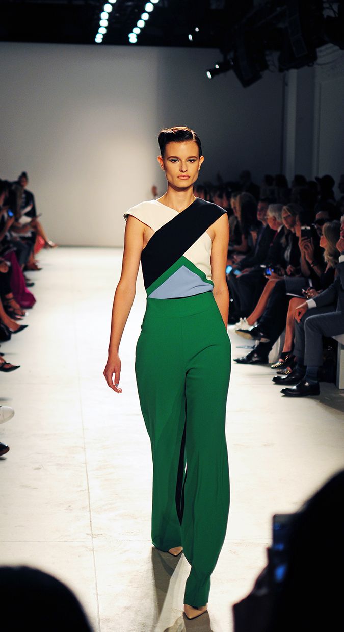 Bibhu Mohapatra | NYFW | Akanksha Redhu | green jumpsuit