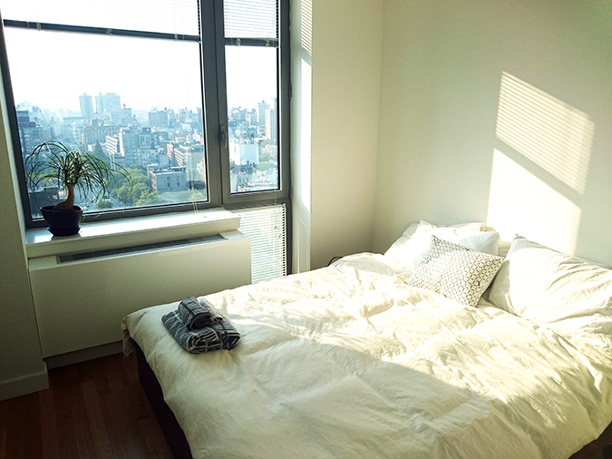 Airbnb | New York City | #RedhuxNYC | our bed