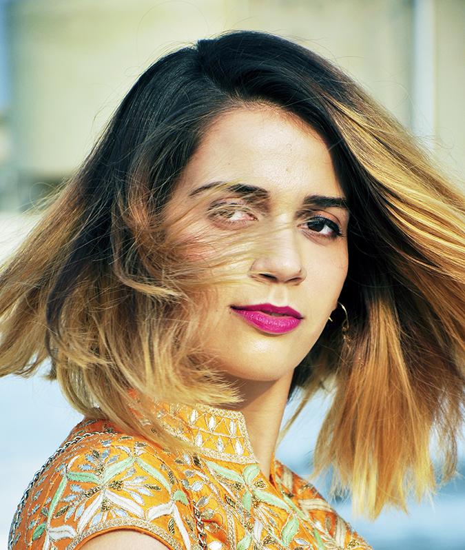 Anita Dongre | Akanksha Redhu | #ootd | hair fly