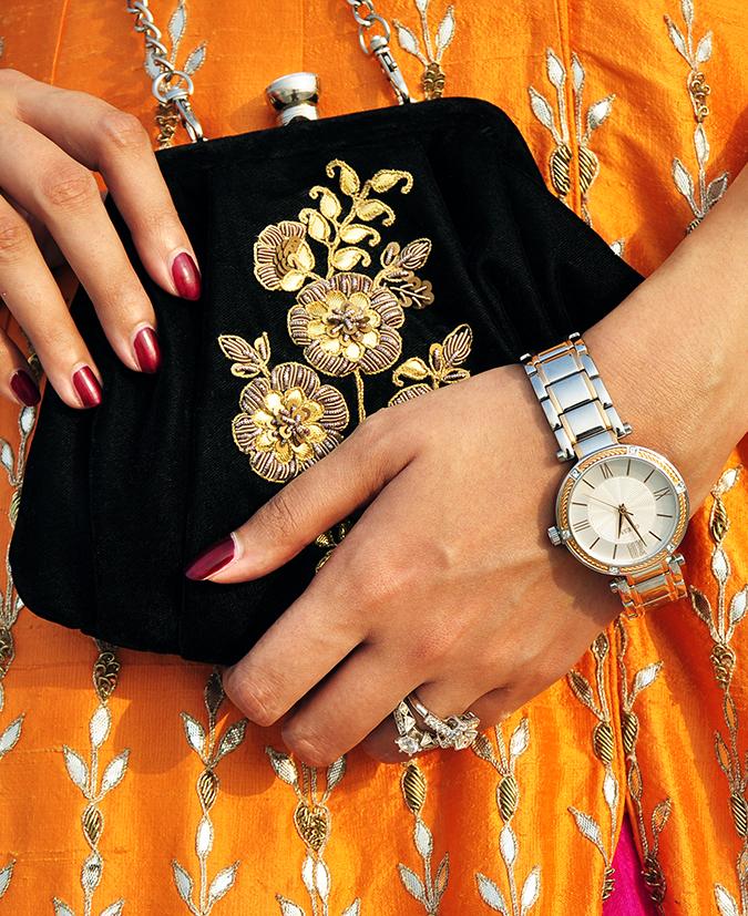 Anita Dongre   Akanksha Redhu   #ootd   watch with bag