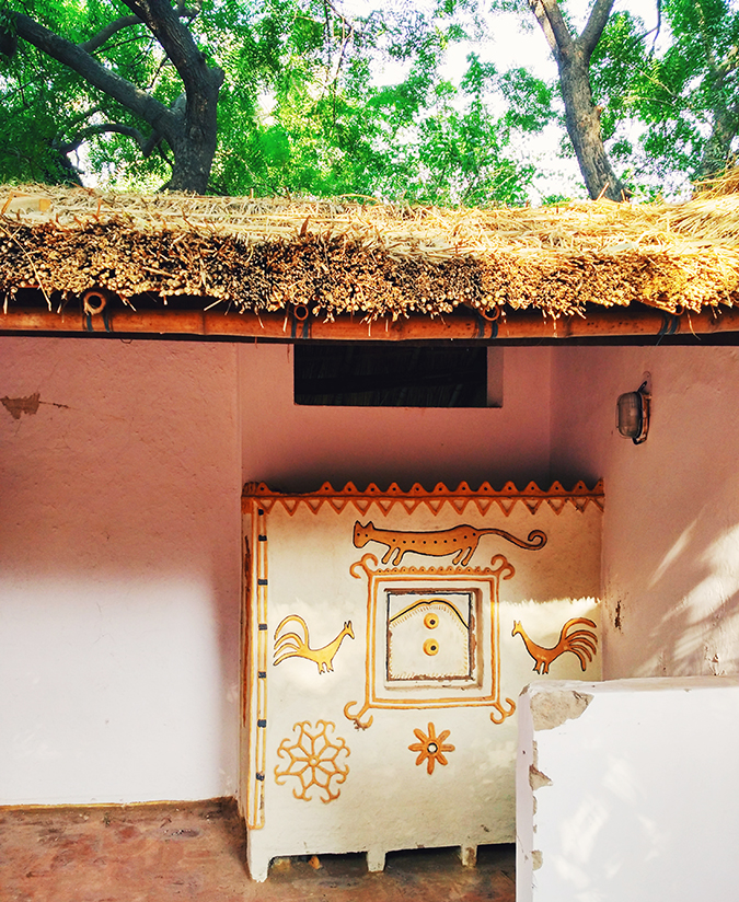 Crafts Museum | New Delhi | Akanksha Redhu | hut mural