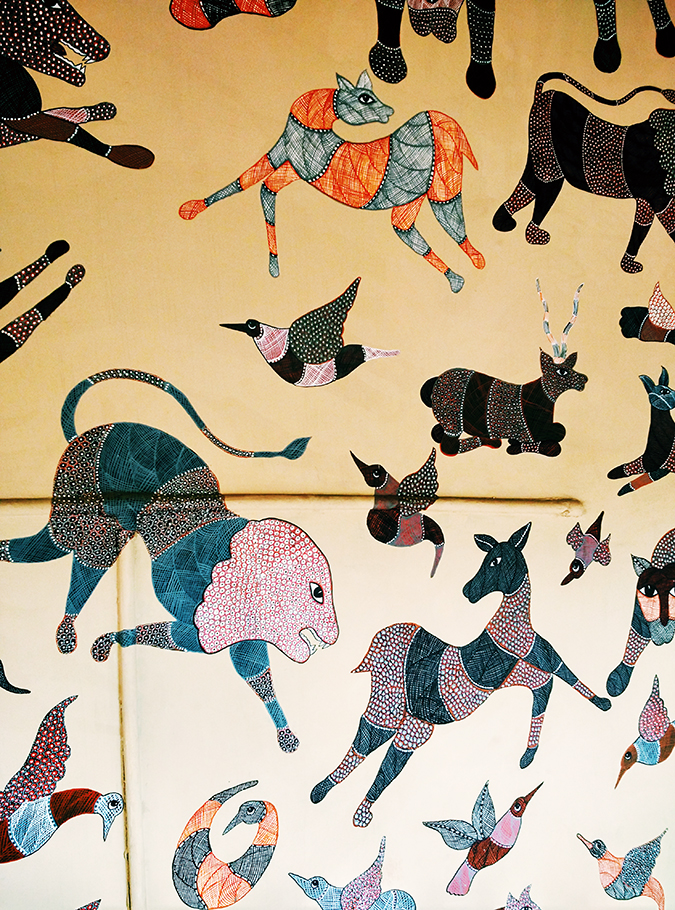 Crafts Museum | New Delhi | Akanksha Redhu | wall painting