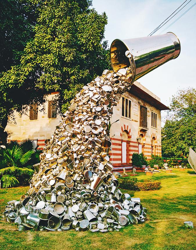 Crafts Museum | New Delhi | Akanksha Redhu | bucket sculpture