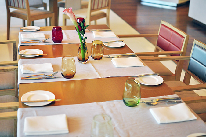 Pluck Restaurant - Pullman New Delhi | Akanksha Redhu | table setting wide