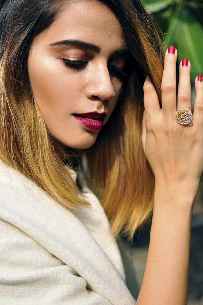 BeeJewelled - CaratLane | Akanksha Redhu | face ring removing hair