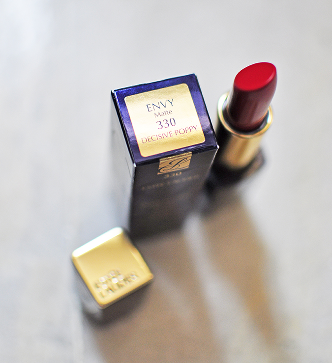 Beauty Edit Dec | Akanksha Redhu | Estee Lauder lipstick standing