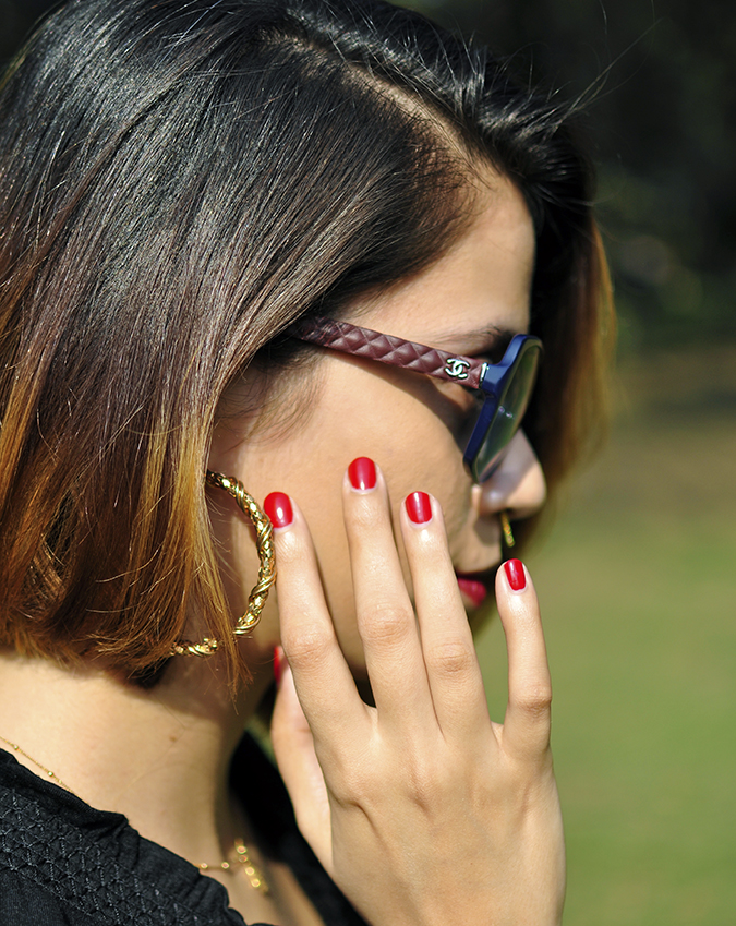 City Black | Sbuys | Akanksha Redhu | chanel & nails