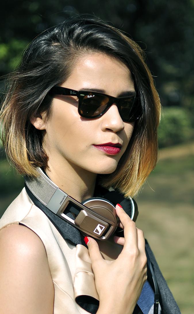 Sennheiser | Akanksha Redhu | face headphones in neck