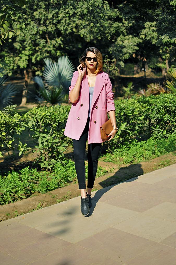 Fresh Pink | #ootd | Akanksha Redhu | full front leg forward