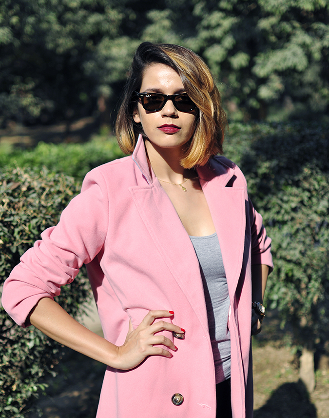 Fresh Pink | #ootd | Akanksha Redhu | half front arm on waist coat