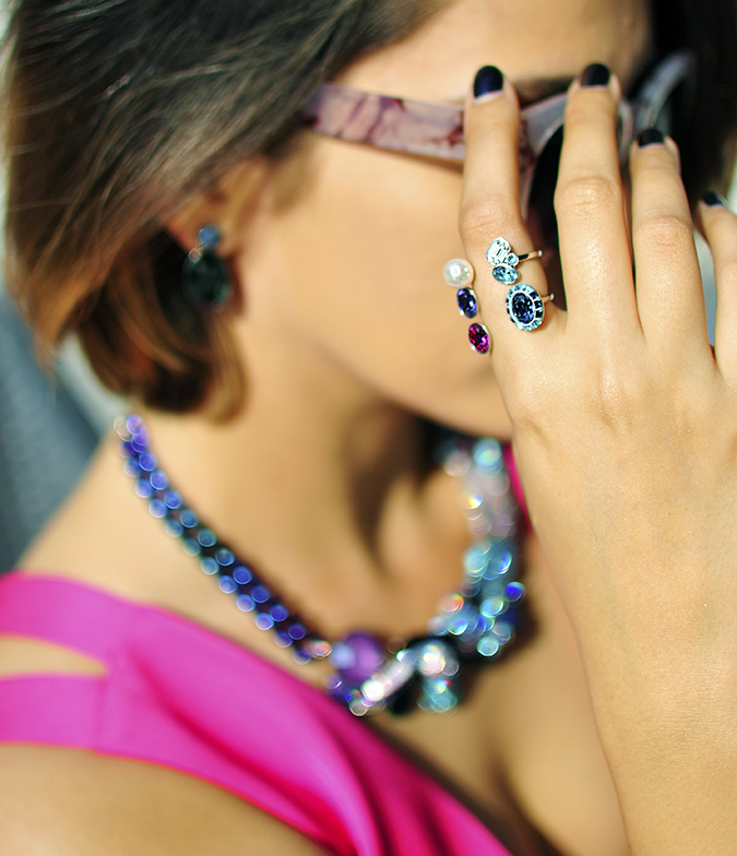 Sea of Sparkle - Swarovski | Akanksha Redhu | hand on sunnies ring focus