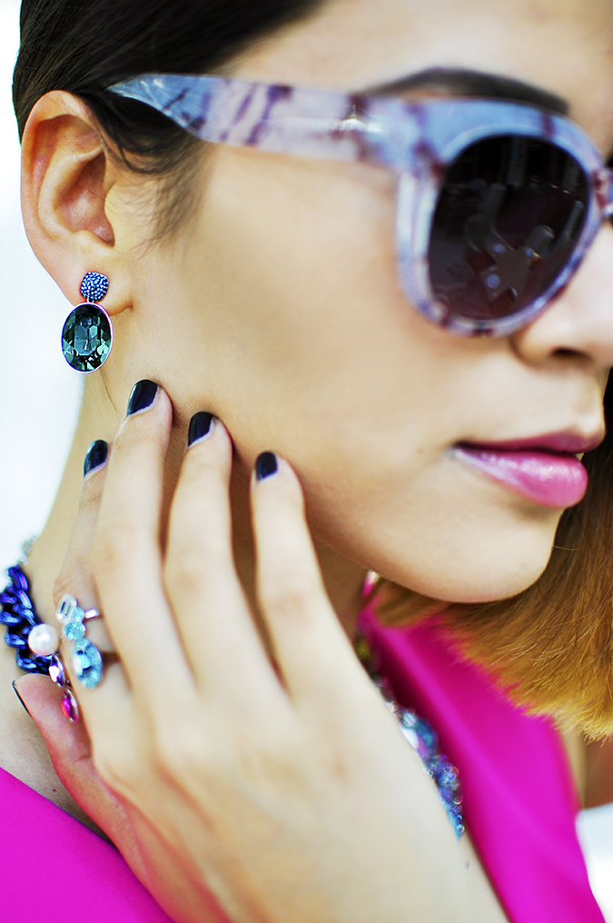 Sea of Sparkle - Swarovski | Akanksha Redhu | details earring wearing