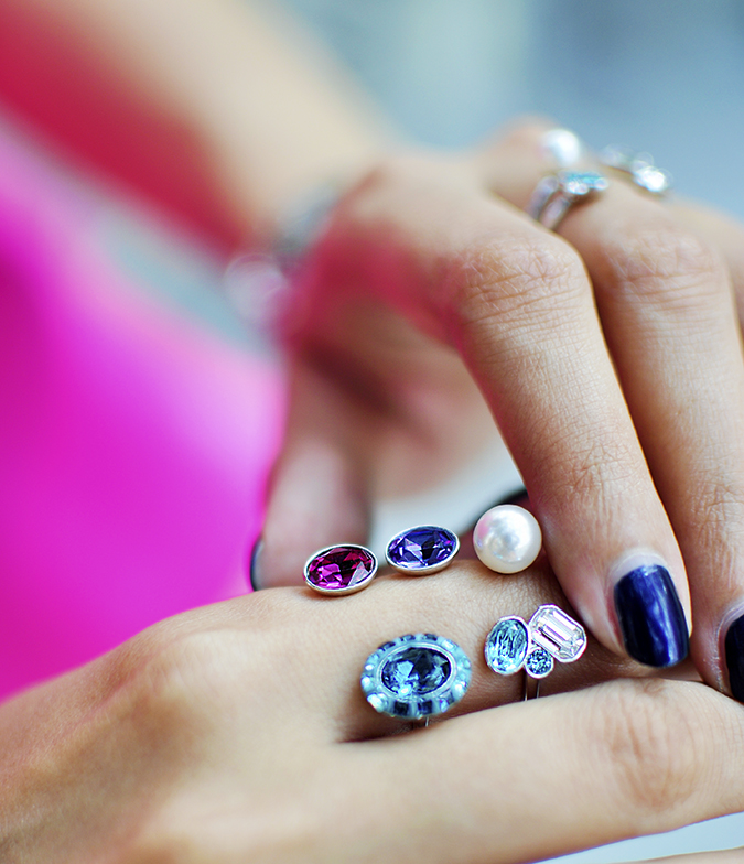Sea of Sparkle - Swarovski | Akanksha Redhu | wearing ring closeup
