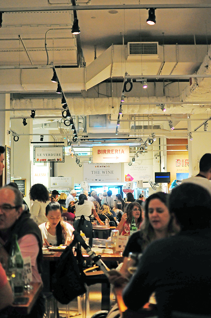 #RedhuxNYC | eataly long inside crowd