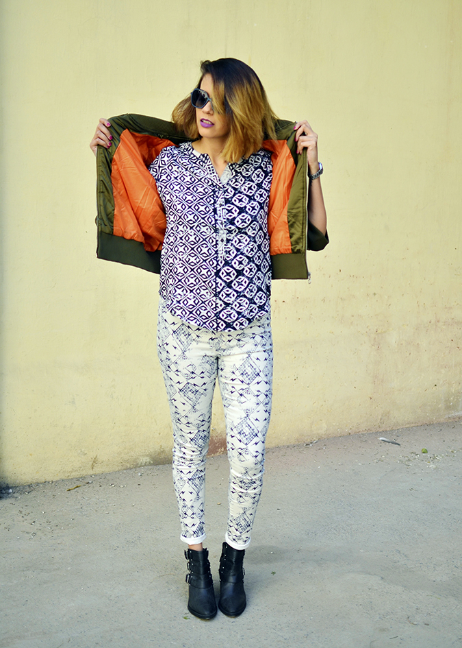 Print Life | Vero Moda | Akanksha Redhu | full front jacket orange