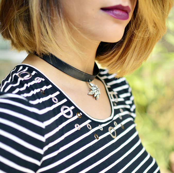 Stripes | Sbuys | Akanksha Redhu | rivet details lips