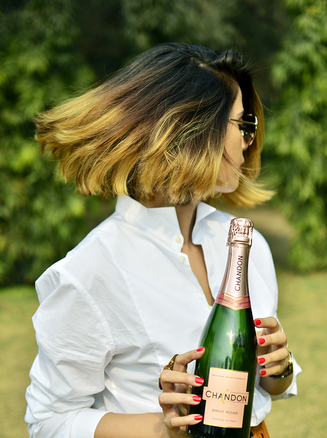 Valentine's Day Ready | Chandon India | Akanksha Redhu | holding bottle hair twirl