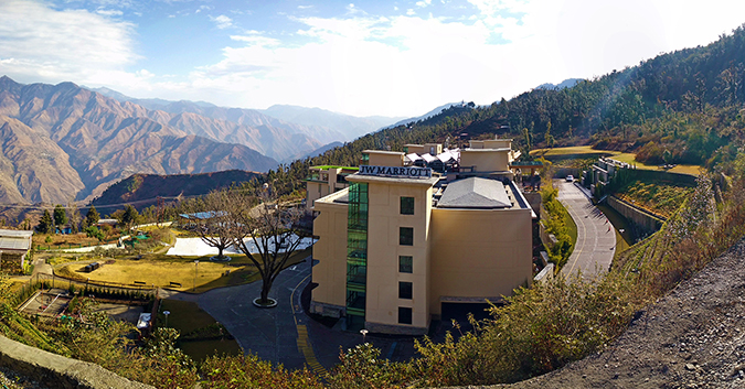 JW Marriott Mussoorie | Akanksha Redhu | Travel | side hotel pano