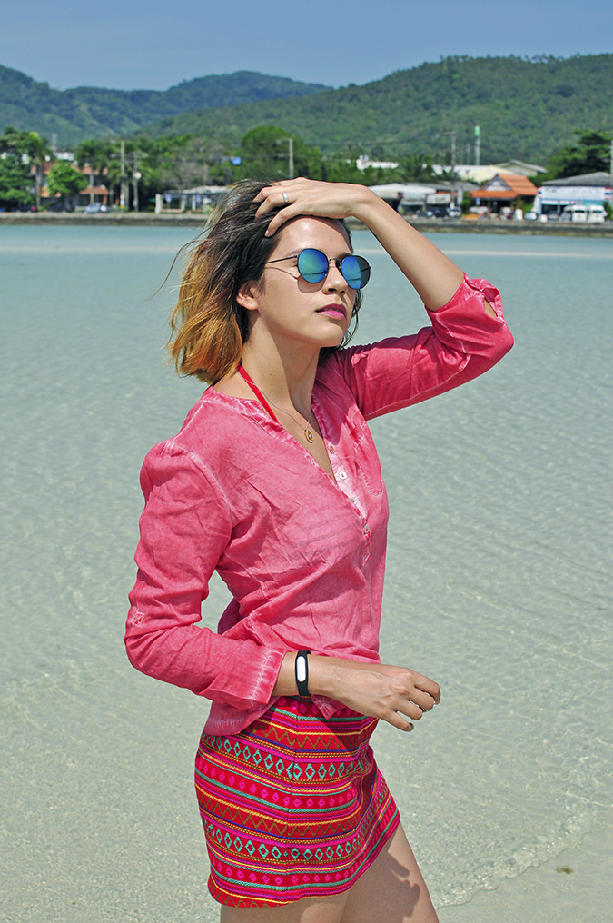 Coconut Beach   Koh Samui   Akanksha Redhu   #RedhuxKohSamui   half side pier back