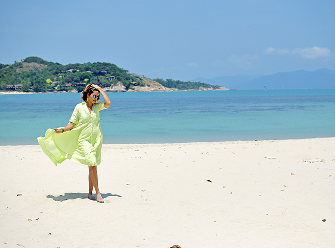Chichouse | Choeng Mon Beach | Koh Samui | Akanksha Redhu | flying dress wide